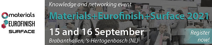 Materials EuroFinish Surface 2021 banner