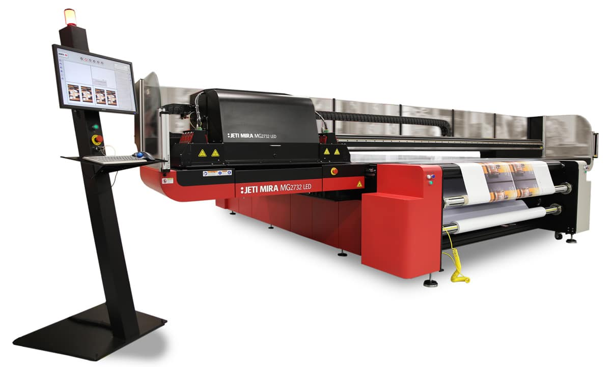 Jeti Mira inkjet printing system - sideways view
