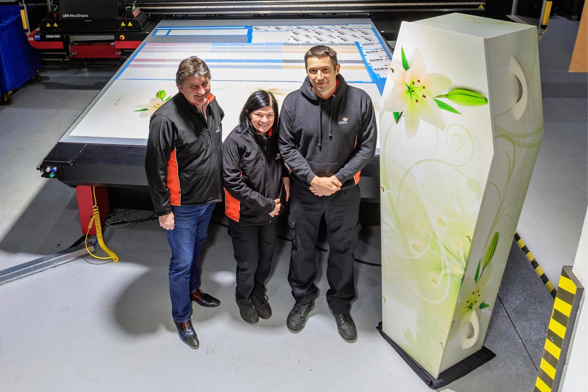 printing coffins using inkjet