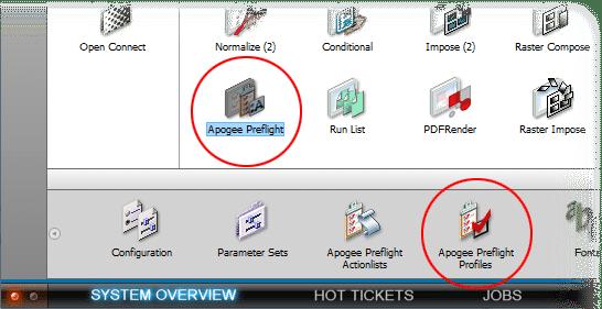 Preflight profile settings