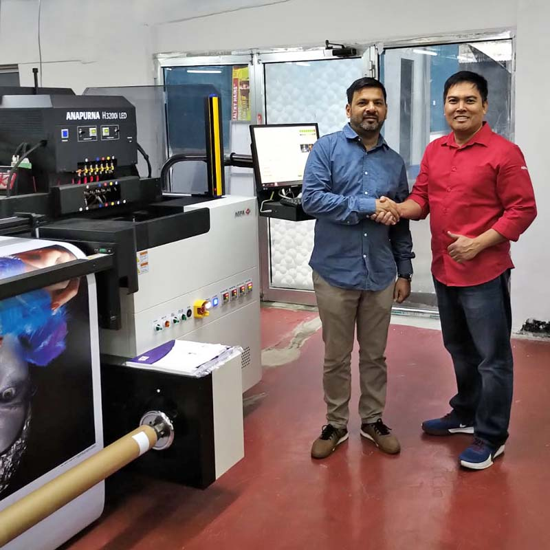 Congrats for a successful inkjet installation