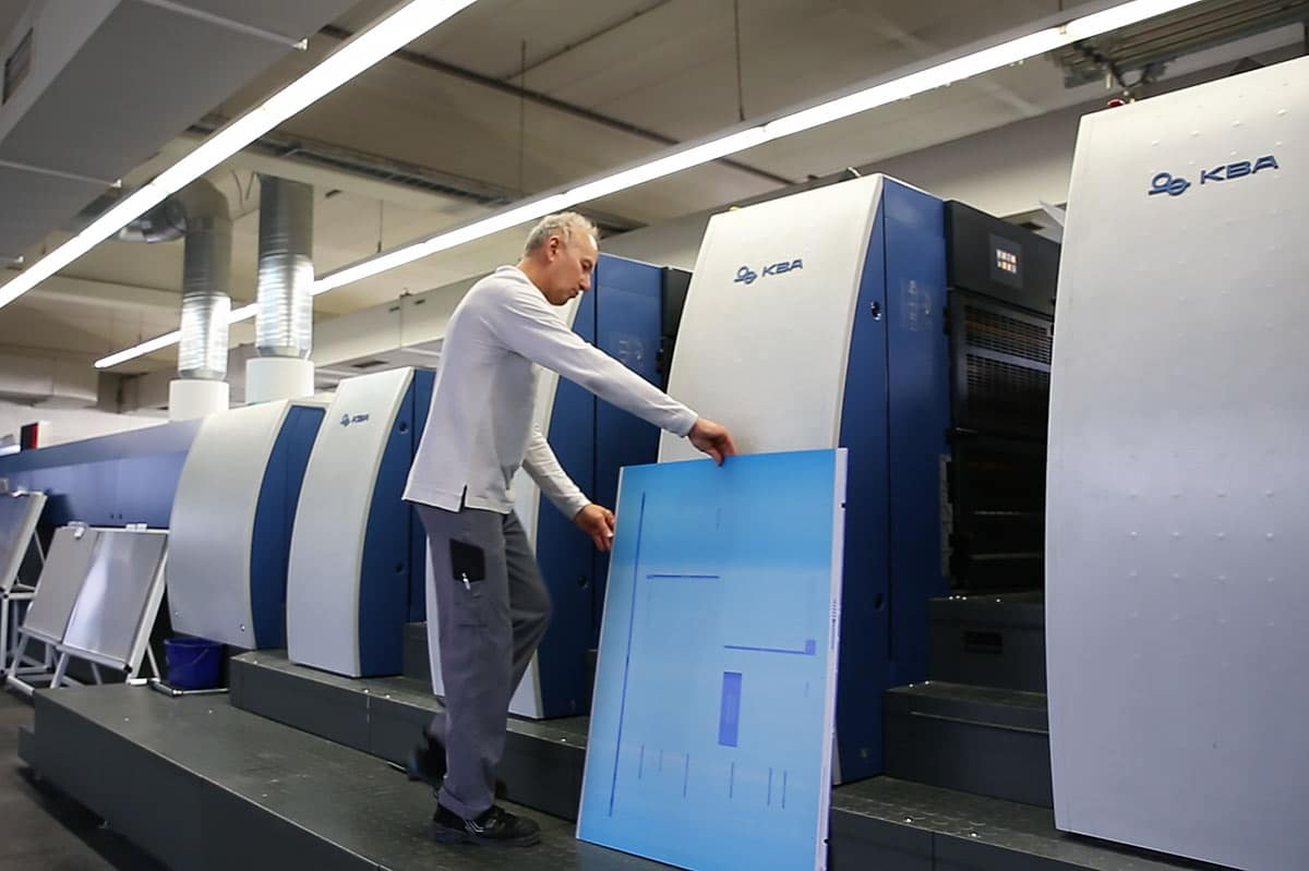 Holzer Druck printing plates