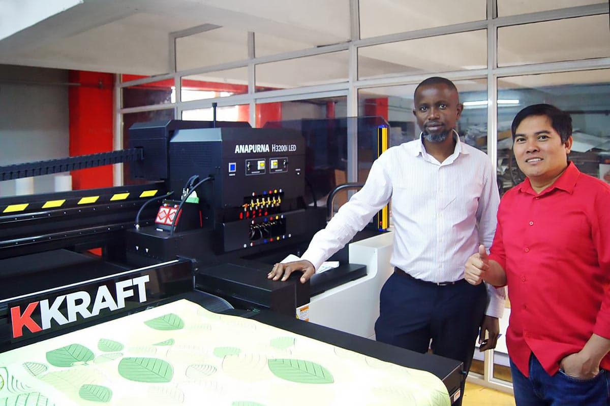 KKraft Brand Design new Agfa printer