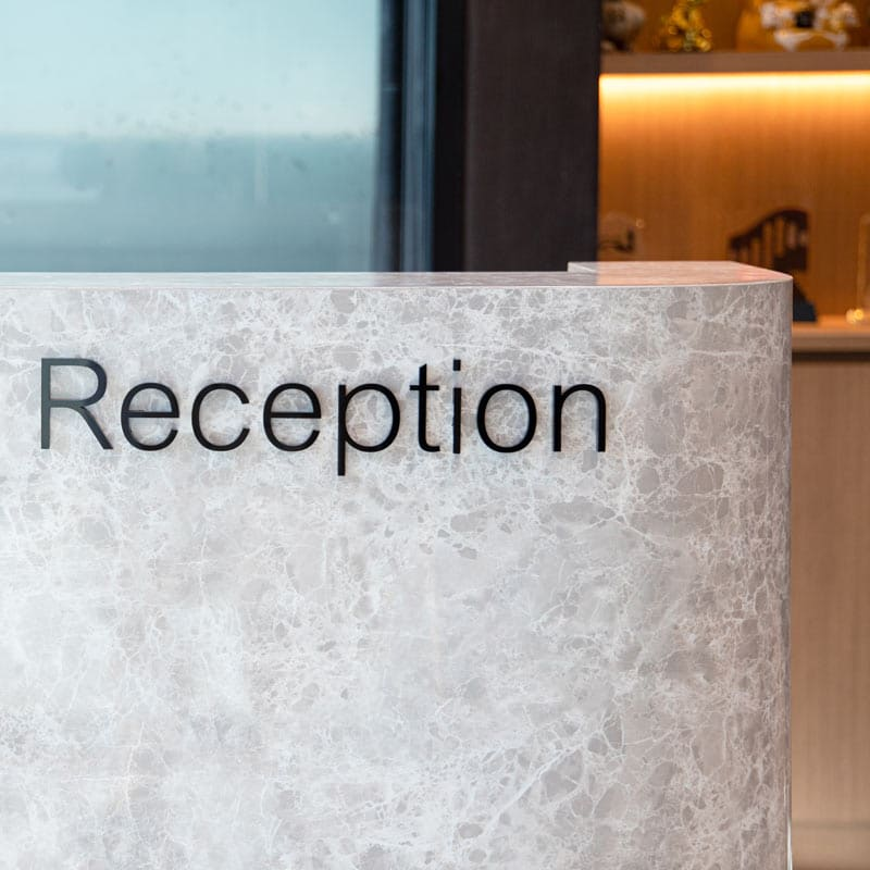 marble laminate for reception desk