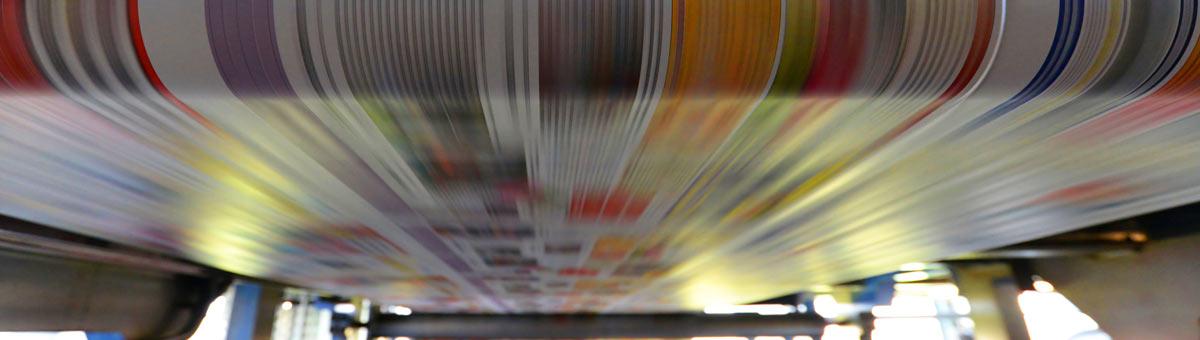 newspaper press full color