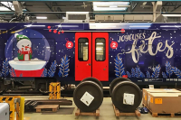 train wrapping