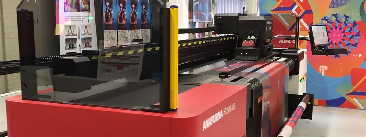 Window decal printing using Agfa inkjet printers and ink
