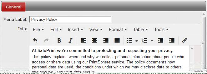 GDPR PrintShpere - Privacy policy
