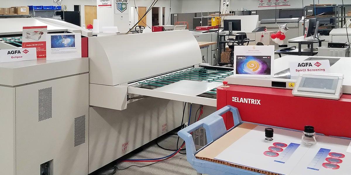 Computer-to-plate & Elantrix processor