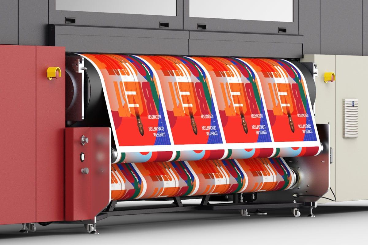 Jeti Tauro roll-to-roll printing