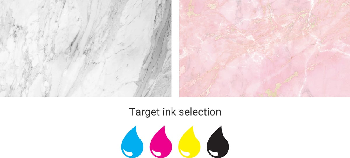 inkjet prints of marble textures
