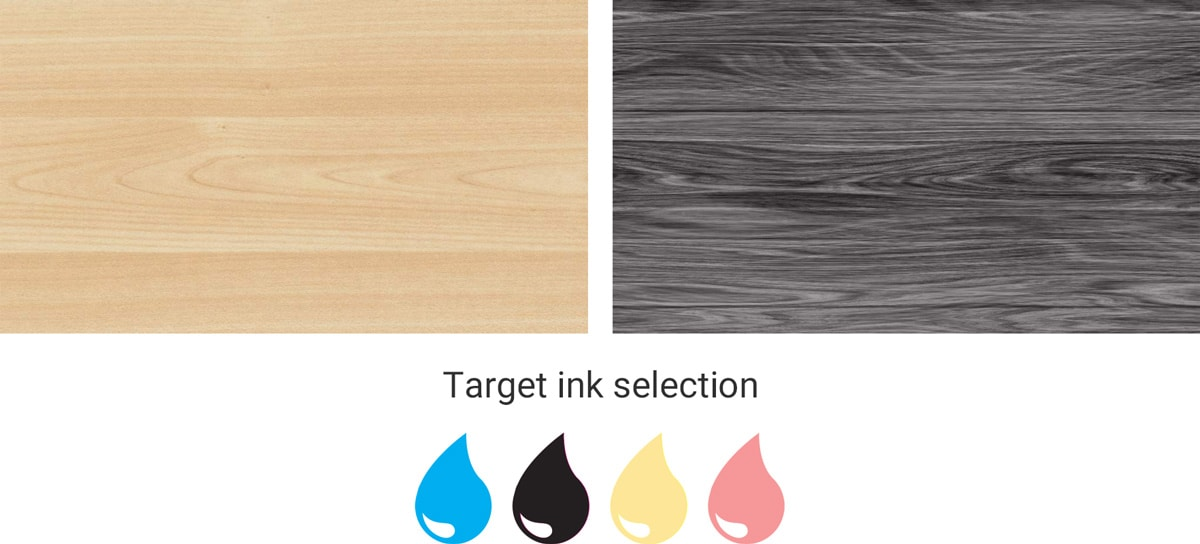 inkjet printed wood patterns