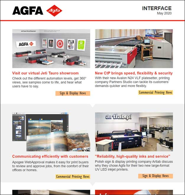 INTERFACE newsletter from Agfa