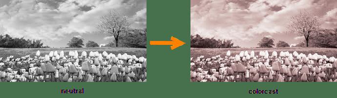Neutral versus colorcast