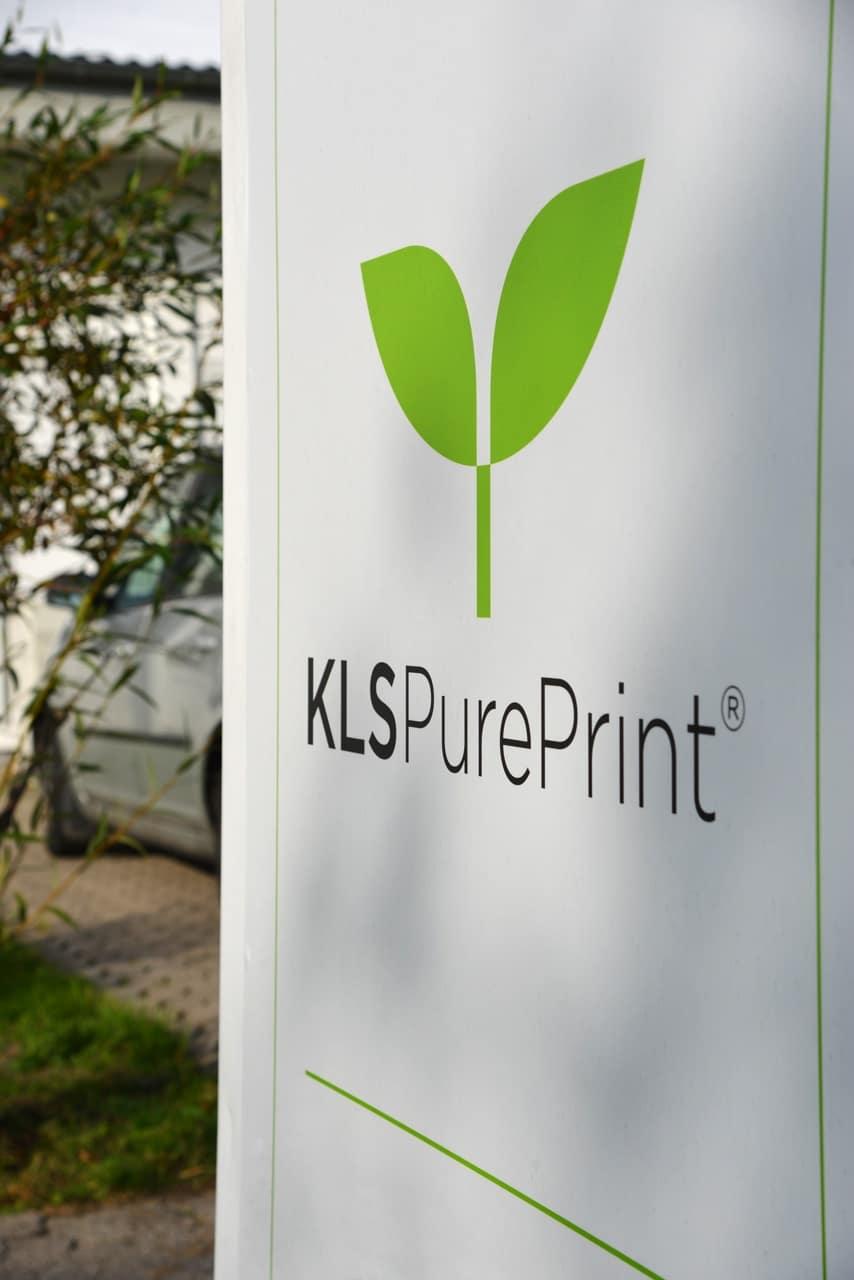 KLS PurePrint Skilt