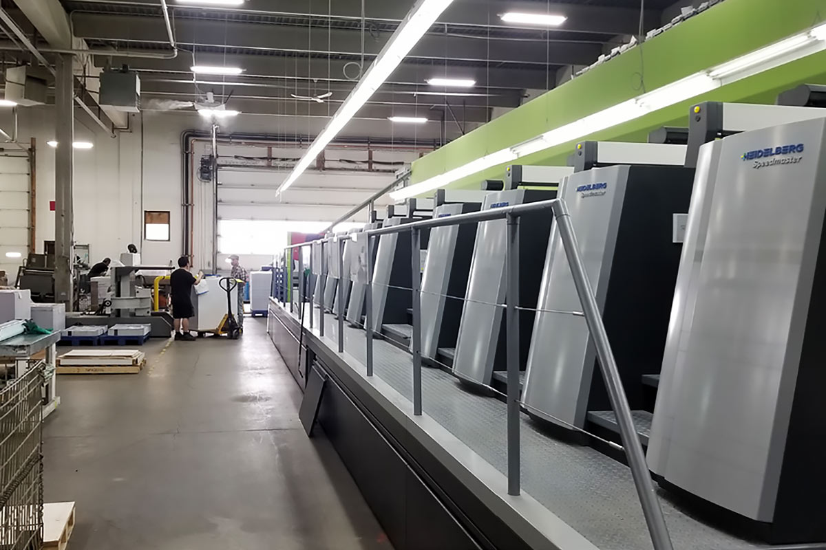 Offset presses at Burke Group