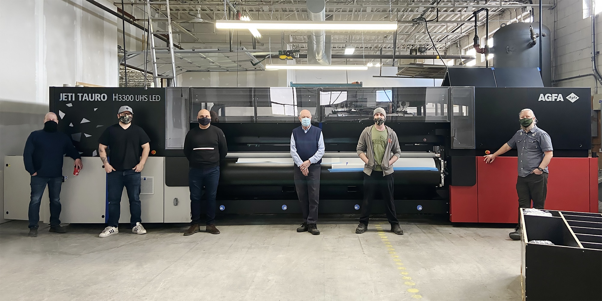 Jeti Tauro large-format printer at Cameron Advertising