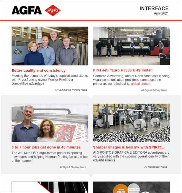 Agfa newsletter April 2021