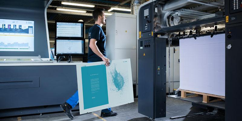 Adamas chem-free offset printing plate