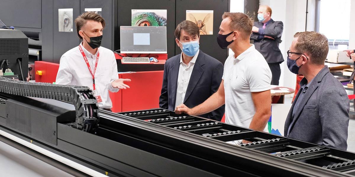 Agfa UK large format printing demo