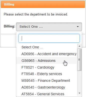select order reference code