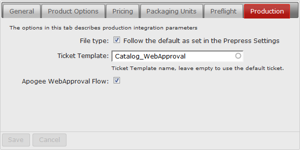 Job ticket template configuration