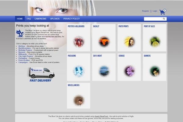 Asanti StoreFront sample store