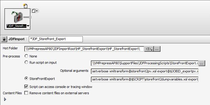 JDF-based MIS integration