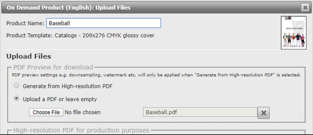 control PDF settings